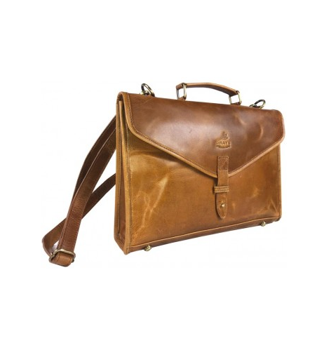 Adam Briefcase in Tan