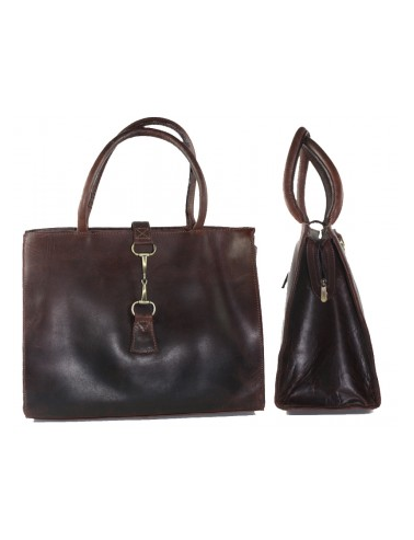 Alice Leather Handbag Brown