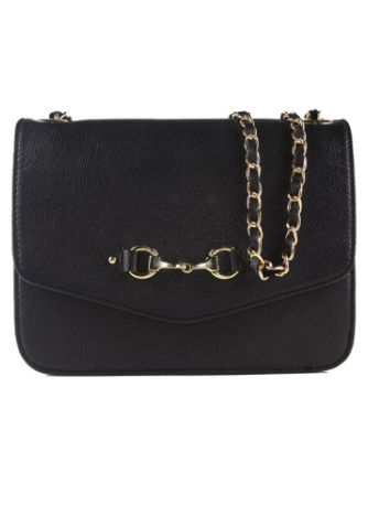 Elizabeth Evening Bag In Fine Leather Black