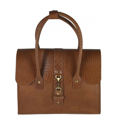 Mary Handbag Natural Leather Croc