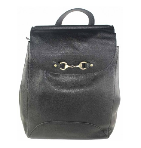 Holly Rucksack Bag Fine Leather Black
