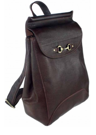 Holly Rucksack Bag Fine Leather Brown