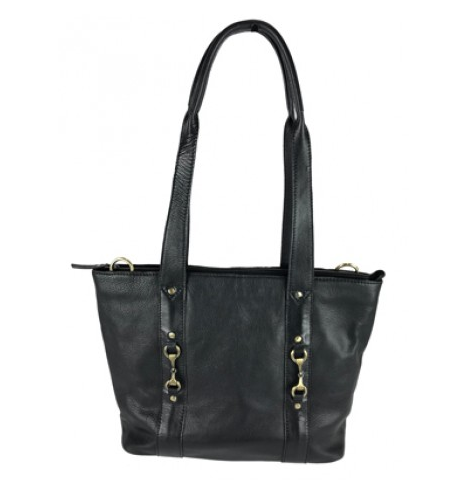 Jessica Tote Bag Fine Leather Black