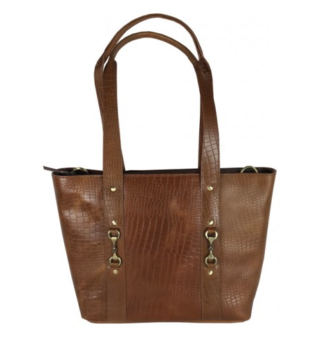 Jessica Tote Bag Natural Leather Croc