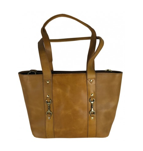 Jessica Tote Handbag Natural Leather Tan