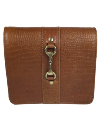 Julia Side Bag Natural Leather Croc