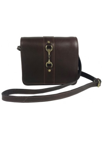 Julia Side Bag Natural Leather Brown
