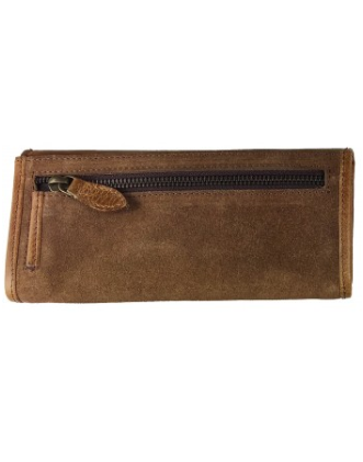 Lily Purse In Tan Leather With Suede