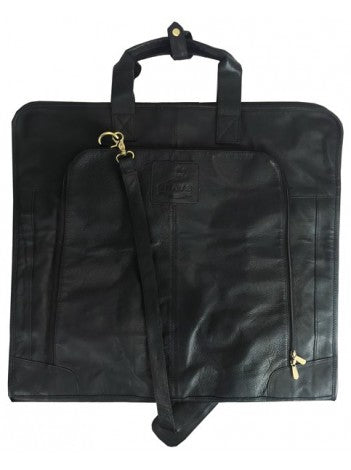 Joshua Suit Carrier Fine Leather Black