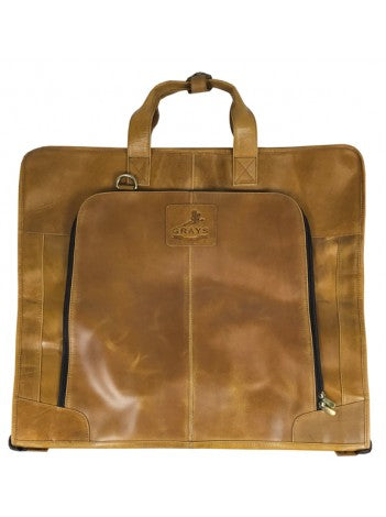Joshua Suit Carrier Natural Leather Tan