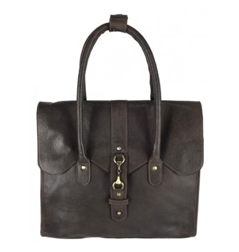 Mary Handbag Fine Leather Brown