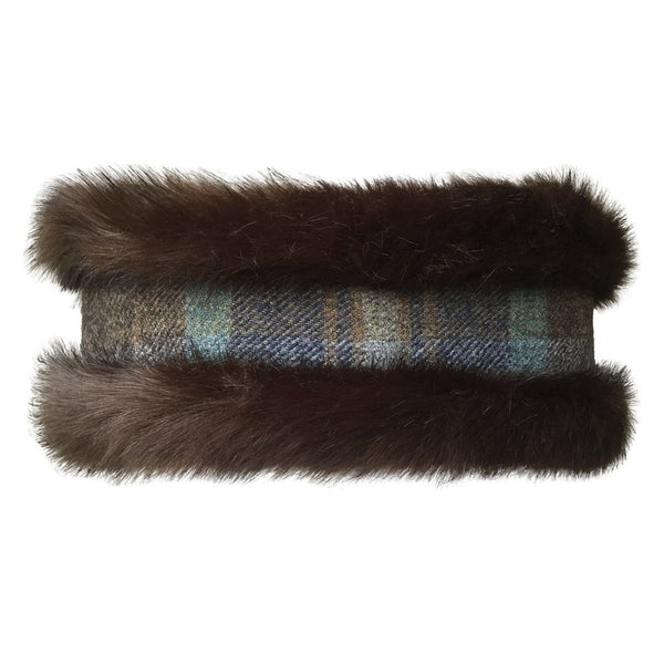 Annabel Brocks - Luxury Brown Faux Fur and Brown Toned Tweed