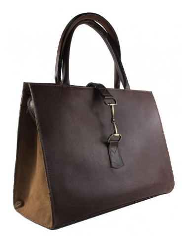 Alice Bag In Brown Leather/suede