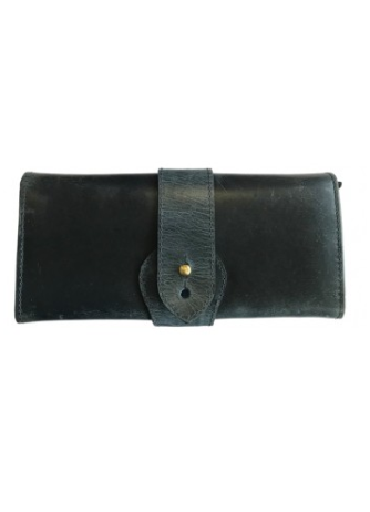 Kate Purse In Charcoal Blue Natural Leather