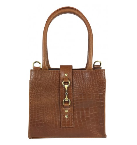 Mini Alice Handbag Natural Leather Croc