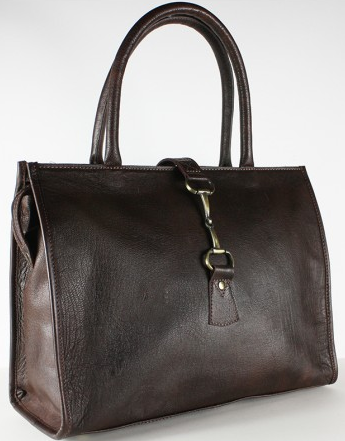 Alice Bag In Fine Leather Brown