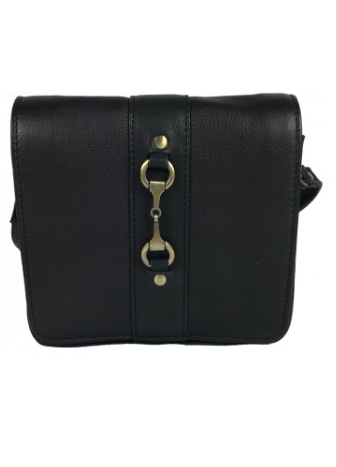 Julia Side Bag Fine Leather Black