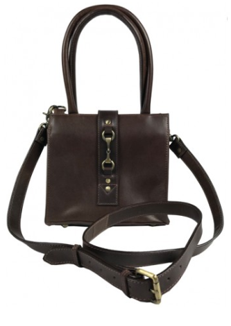 Mini Alice Handbag Natural Leather Brown