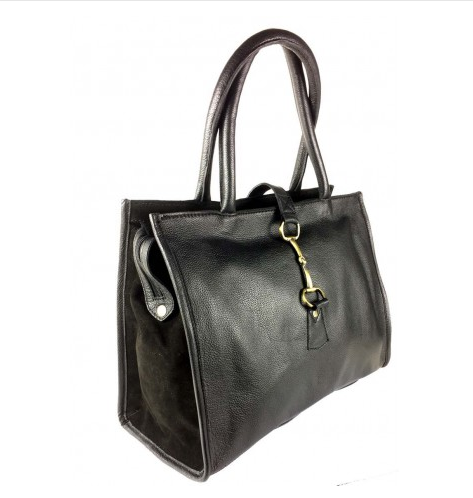 Alice Bag Fine Leather & Suede Black