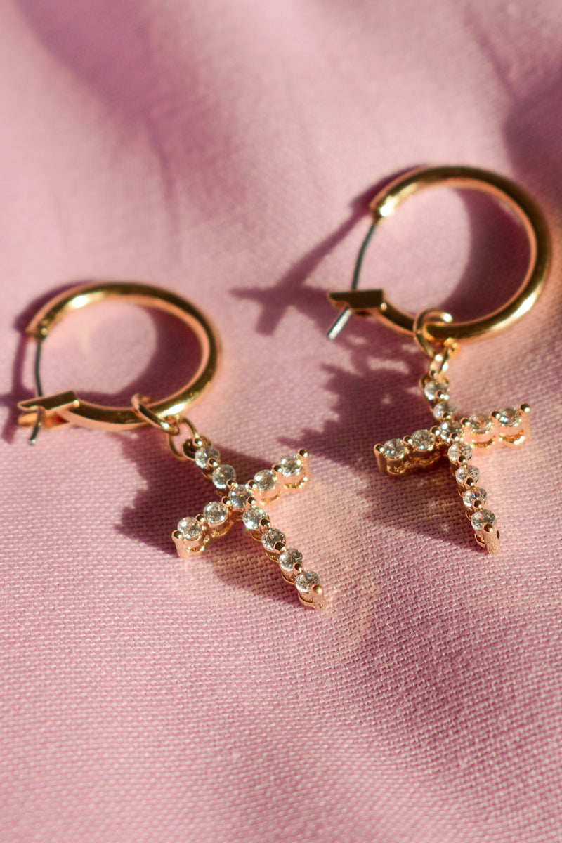 The Saint Cross Earrings