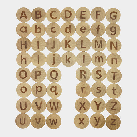 tactile alphabet matching set - available