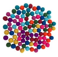 large felt wool balls - summer -  pack 10