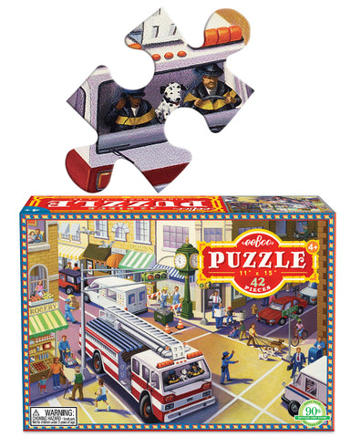 42 piece puzzle - fire truck