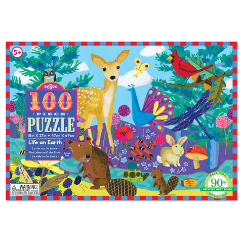 100 piece puzzle - life on earth - available