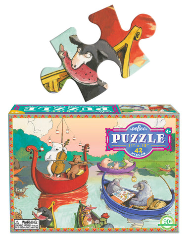 42 piece puzzle - party on the lake