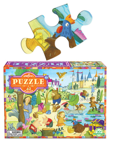 42 piece puzzle - mystery forest