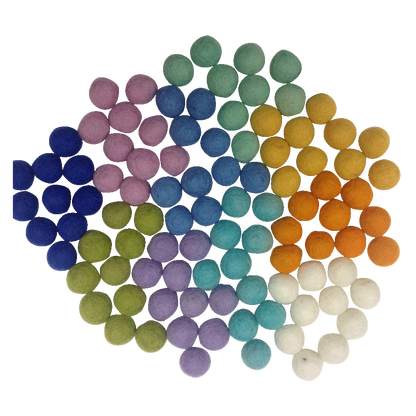 mini felt wool balls - pack 100 - spring