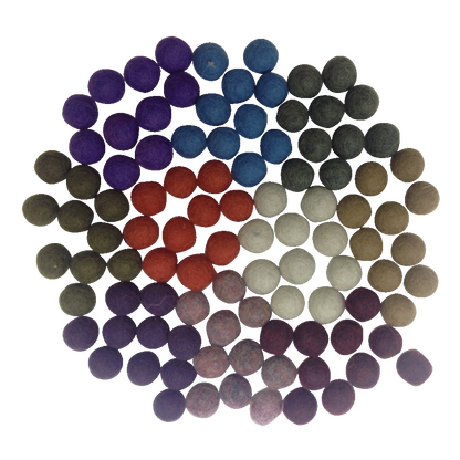 wool felt balls - winter - pack 20 - PREORDER