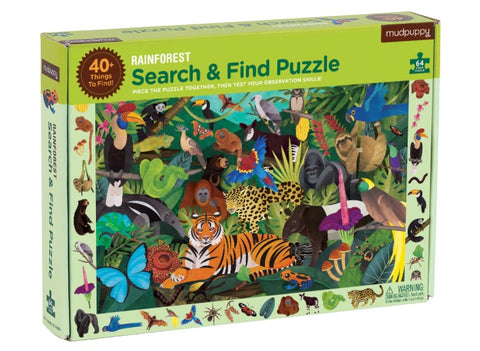 search & find puzzle - 64 pc - rainforest - SALE