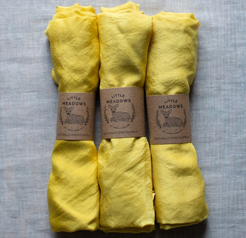 naturally dyed playsilk - yellow - SALE