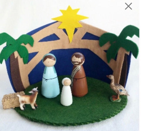 nativity play mat