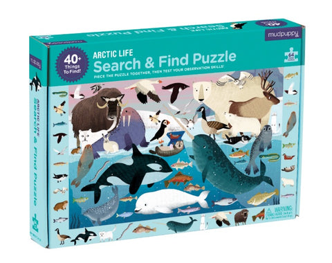 search & find puzzle - 64 pc - arctic life - SALE