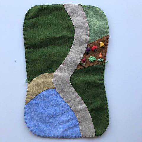 farm felt play mat - PREORDER