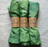 naturally dyed playsilk - green