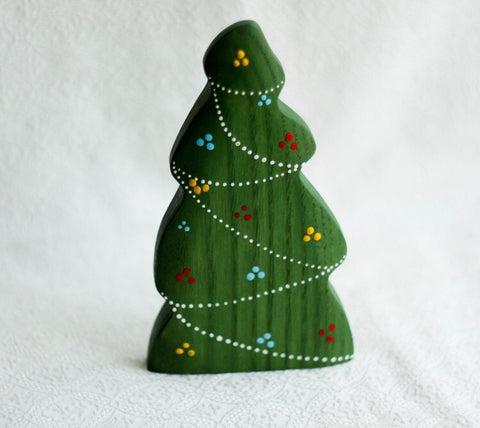 wooden Christmas tree - garland design - available