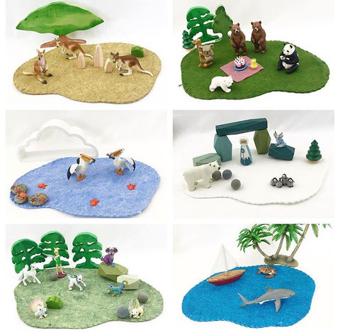 foundations of play small world base mats - 6 pack