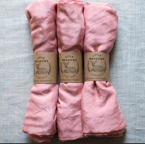 naturally dyed playsilk - pink - SALE - available