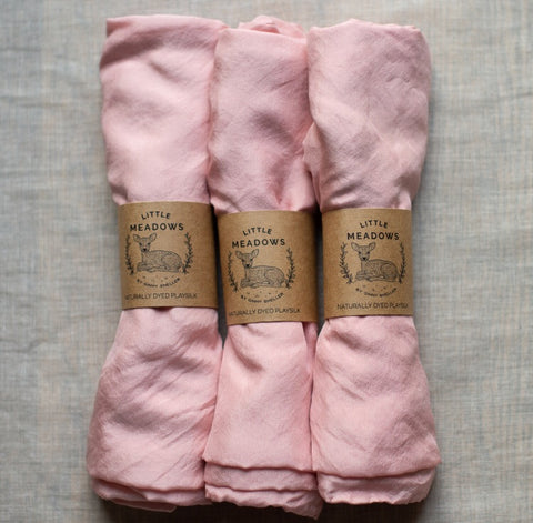 naturally dyed playsilk - pale pink - SALE