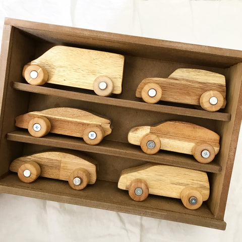 wooden car set - available