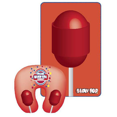 Blow Pop Cherry Travel Pillow with Blanket - TootsieShop.com