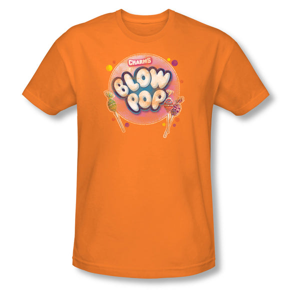 Blow Pop Bubble (Orange) Slim Fit Tee - TootsieShop.com