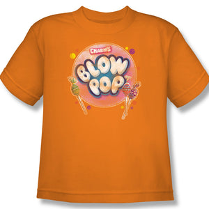 Blow Pop Bubble (Orange) Youth Tee - TootsieShop.com