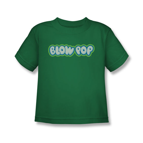 Blow Pop Logo (Kelly Green) Kids Tee - TootsieShop.com