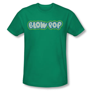 Blow Pop Logo (Kelly Green) Slim Fit Tee - TootsieShop.com
