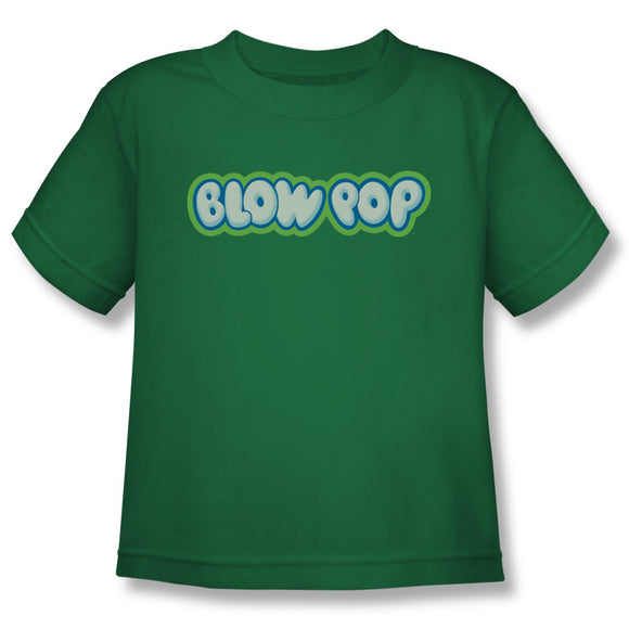 Blow Pop Logo (Kelly Green) Youth Tee - TootsieShop.com