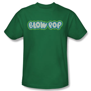 Blow Pop Logo (Kelly Green) T-Shirt - TootsieShop.com